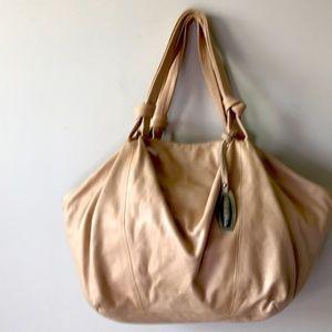 Large Nicoli Italian Leather Hobo Handbag